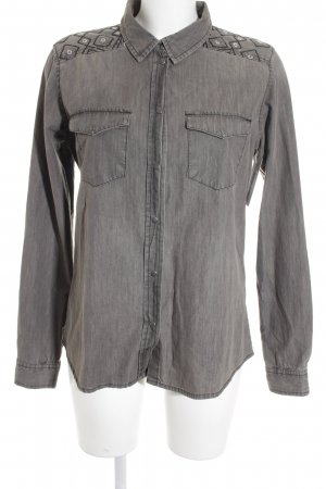 Object Hemd-Bluse taupe Casual-Look