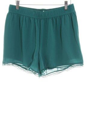 Object High-Waist-Shorts grün-waldgrün Casual-Look