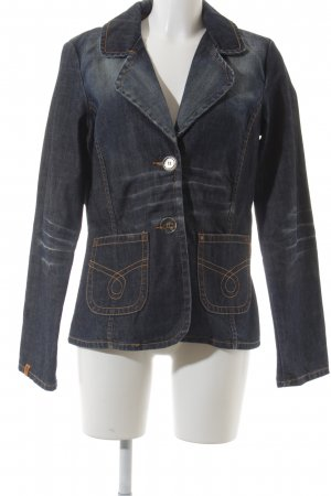 Object Jeansblazer dunkelblau Washed-Optik