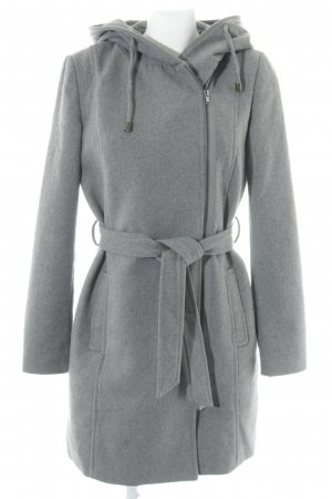 Object Hooded Coat grey flecked casual look