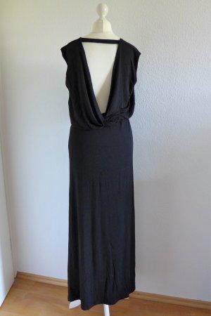 Object Kleid Maxikleid Rückenausschnitt schwarz lang boho Gr. S 36 NEU