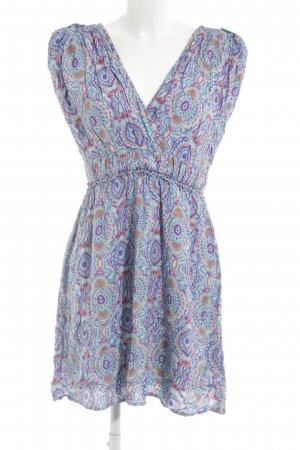 Object Kurzarmkleid abstraktes Muster Hippie-Look