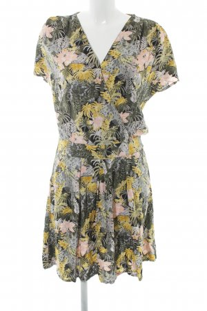 Object Kurzarmkleid florales Muster Casual-Look