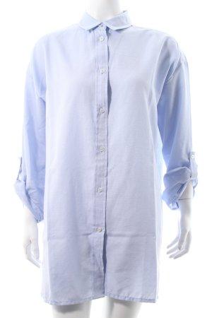 Object Langarmhemd himmelblau Webmuster Boyfriend-Look