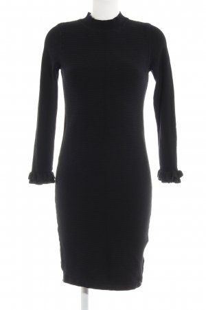 Object Langarmkleid schwarz Casual-Look