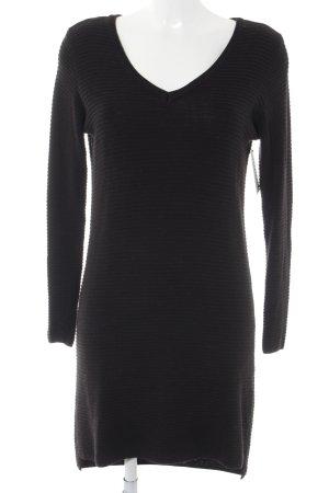 Object Langarmkleid schwarz schlichter Stil
