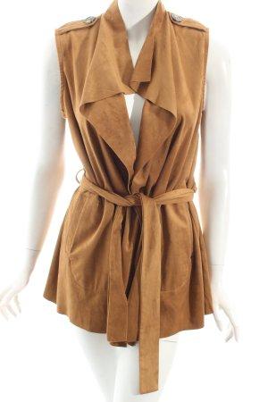 Object Lederweste camel Street-Fashion-Look