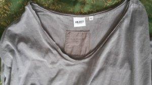 OBJECT Maxikleid Shirtkleid bodenlang Gr. S Taupe