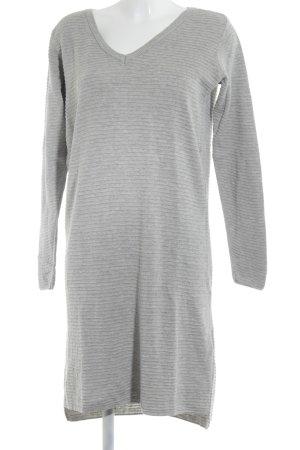 Object Sweaterjurk lichtgrijs gestreept patroon casual uitstraling