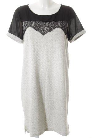 Object Pulloverkleid schwarz-hellgrau minimalistischer Stil