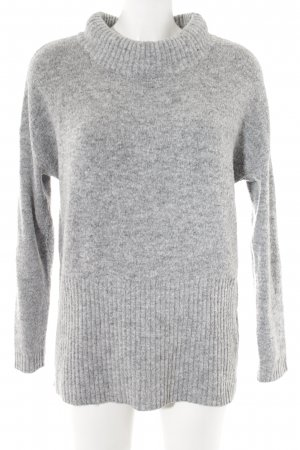 Object Turtleneck Sweater light grey flecked casual look