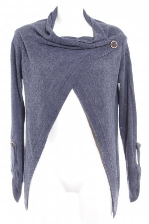 Object Strick Cardigan dunkelblau meliert Casual-Look