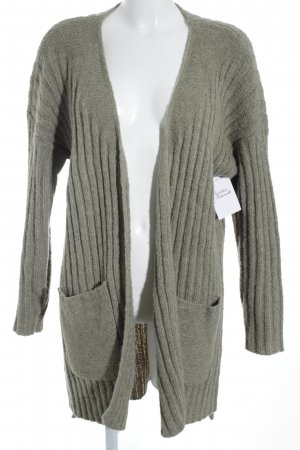 Object Strick Cardigan grüngrau Casual-Look