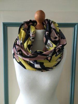 Object | Stylischer Schal *Loop * Tuch * bunt Gelb Schwarz Grau Rosa