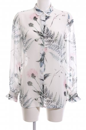 Object Transparenz-Bluse Allover-Druck Casual-Look