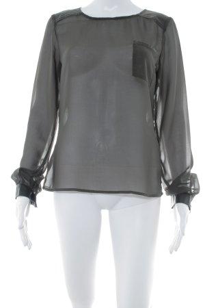 Object Transparenz-Bluse schwarz Casual-Look
