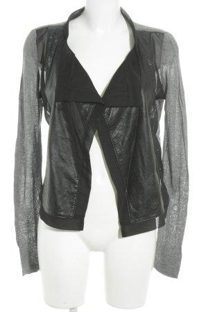 Object Übergangsjacke schwarz-grau Biker-Look