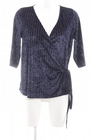 Object Wickel-Bluse blau Streifenmuster Casual-Look