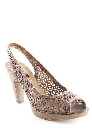 Objects in mirror High Heel Sandaletten braun grafisches Muster klassischer Stil