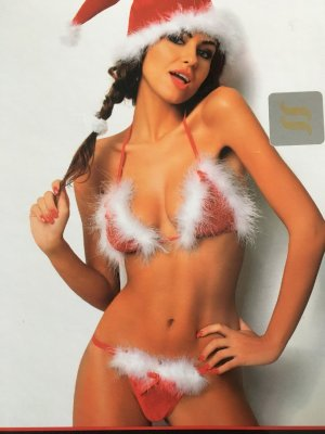 Lingerie Set red-white polyester
