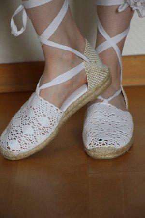 Espadrille Sandals white cotton