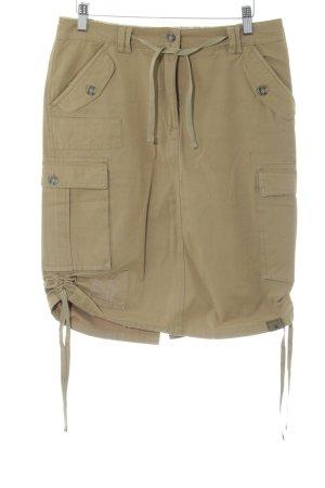 OCK Outdoor Casual Khaki Cargo Skirt khaki street-fashion look