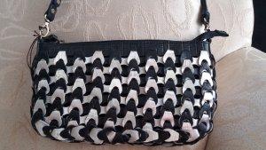 OCTOPUS    exclusive Ledertasche   schwarz-grau-silber   NEU !!! mit verstellb. Langgurt
