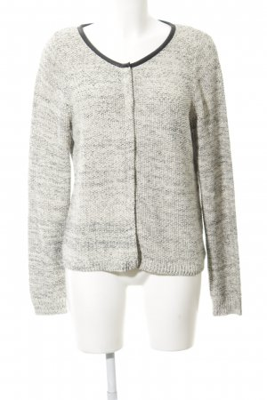 Octopus Coarse Knitted Jacket natural white-black glittery