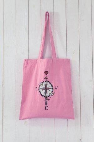 ODD MOLLY Beutel Tasche Einkaufsbeutel Baumwolle Print Hippie Rosa Bunt Neu!