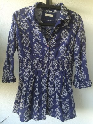 Odd Molly Bluse in blau/weiß