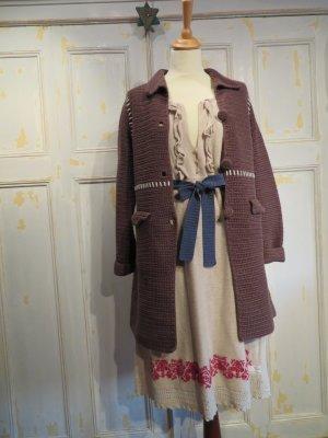 Odd Molly Crochet Grandma Coat Handgehäkelter Mantel Braun Boho-Look Baumwolle Gr. 1 bis 2 Lange Strickjacke