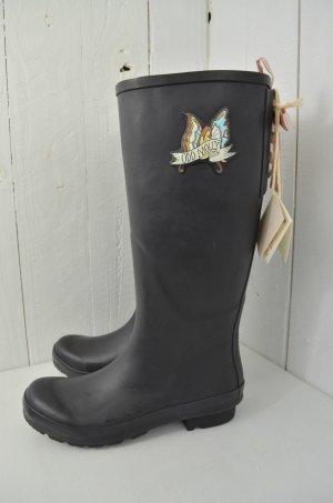 ODD MOLLY Damen Gummistiefel Boots Mod. Tide Rain Almost Black Schwarz Pink