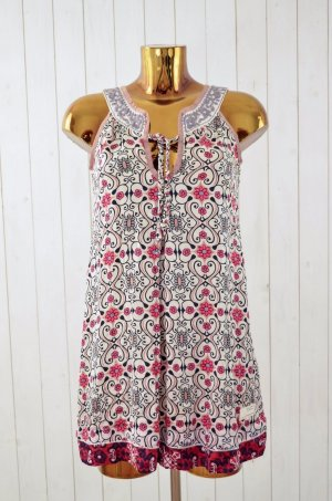 ODD MOLLY Damen Kleid Hängerchen Seide Baumwolle Bestickt Blume Muster Bunt 0/34