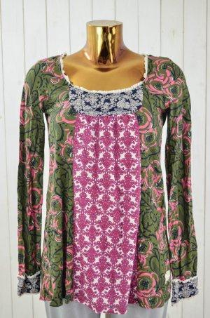 ODD MOLLY Damen Shirt Oberteil Baumwolle Jersey Bunt Muster Langarm Gr.1/36 Neu!