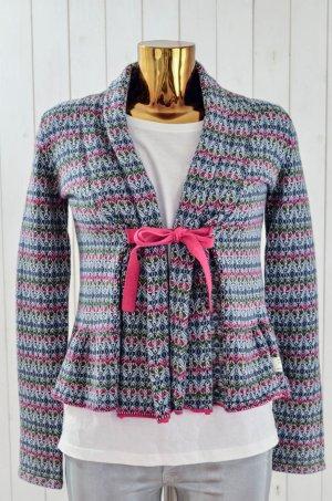 ODD MOLLY Damen Strickjacke CANNA CARDIGAN Multi Pink Blau Grau Weiß Gr.1/ 36