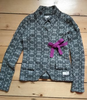 Odd Molly Damen Strickjacke Lovely Knit Cardigan Gr. 1, anthrazit/weiß