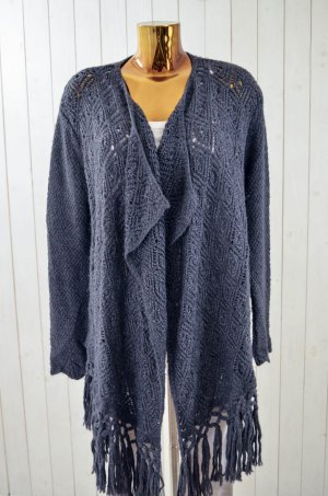 Odd Molly Knitted Coat anthracite wool