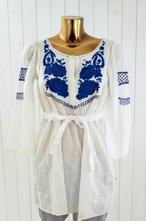 ODD MOLLY Damen Tunika Bluse Oberteil MULAN 3/4 Tunic M511-827 Weiss Gr.1 NEU!!