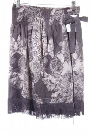 Odd Molly Fringed Skirt grey brown-light pink floral pattern party style