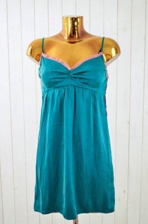 ODD MOLLY Kleid Unterkleid Wäsche Optik Träger Seide Grün Mauve Spitze Gr.1/ 36