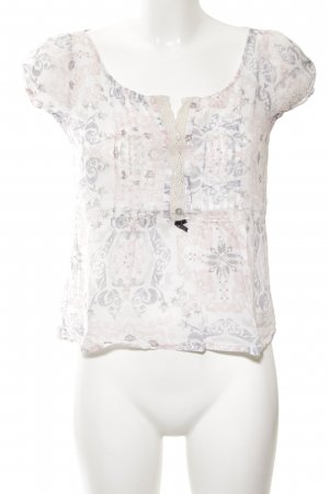 Odd Molly Kurzarm-Bluse weiß-creme Blumenmuster Casual-Look