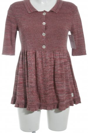 Odd Molly Kurzarmpullover dunkelrot-taupe meliert Casual-Look