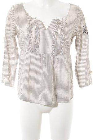 Odd Molly Langarm-Bluse wollweiß-beige Streifenmuster Casual-Look
