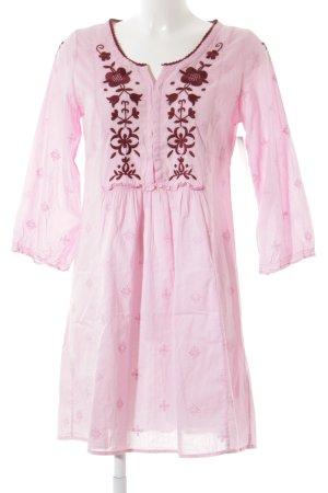 Odd Molly Long-Bluse rosa-bordeauxrot florales Muster Romantik-Look