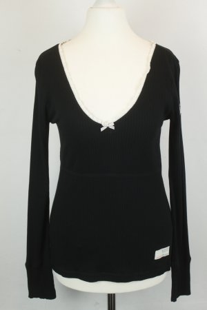 Odd Molly Longsleeve Langarmshirt  Gr. 1 / XS schwarz weiße Rüschen