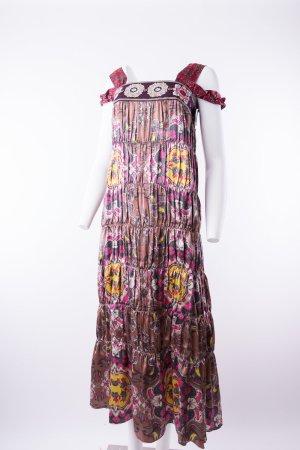 ODD MOLLY - Maxi-Seidenkleid mit floralem Muster