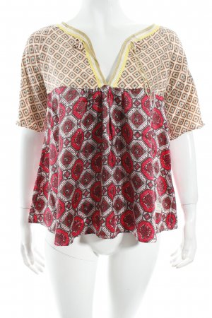 Odd Molly Seidenbluse florales Muster Logo-Applikation