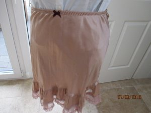 Odd Molly Lace Skirt rose-gold-coloured silk