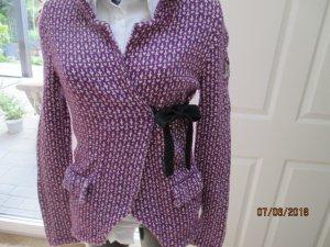 Odd Molly Veste chemise violet-blanc