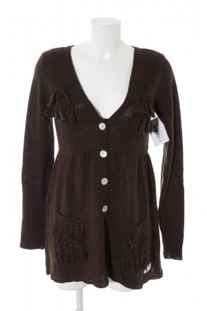 Odd Molly Strickjacke dunkelbraun Romantik-Look